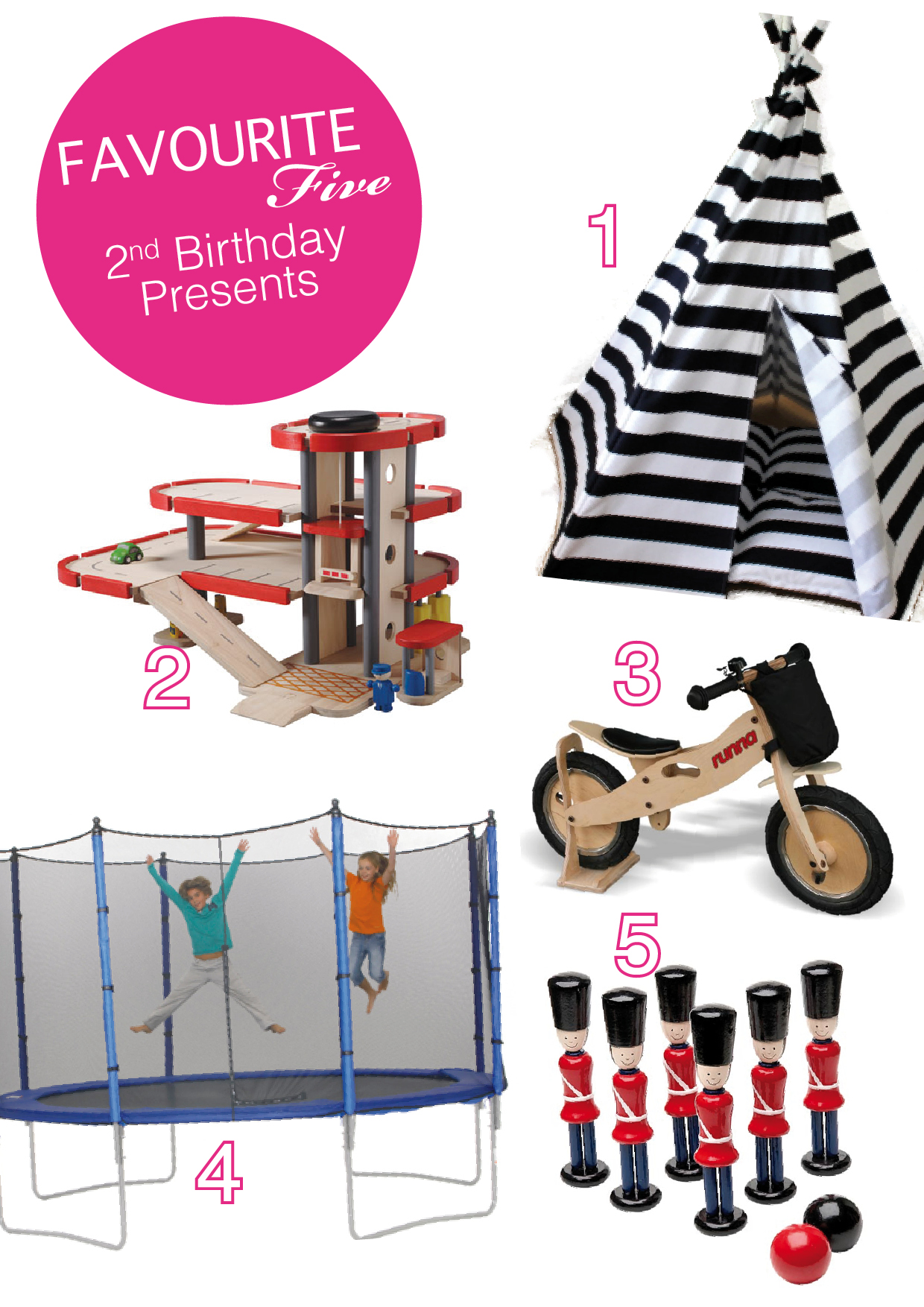 favourite five: 2nd birthday presents |